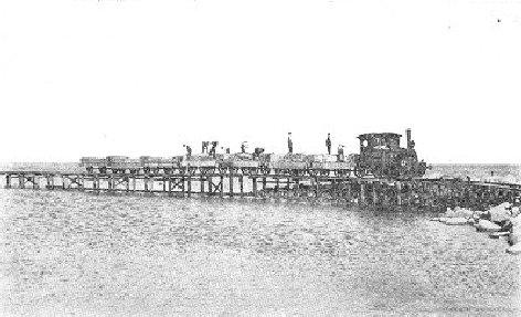 Billede fra anlægningen af Sæby havnebane 1910