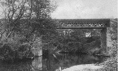 Jernbanebroen over Sæby å - set fra vest