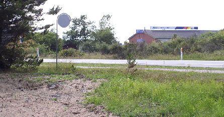 Hovedvej A10, 28. jun 2004, hvor banen krydsede på vej mod Aalborg