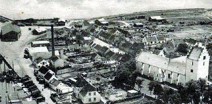Sæby havn 1962 med sporet til kulpladsen