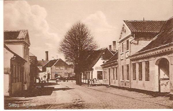 Algade med Søndergade i baggrunden