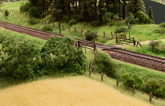 Modul med jernbaneoverskæring