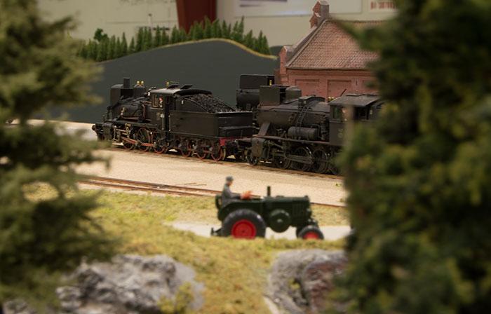 Damplokomotiver ved remisen
