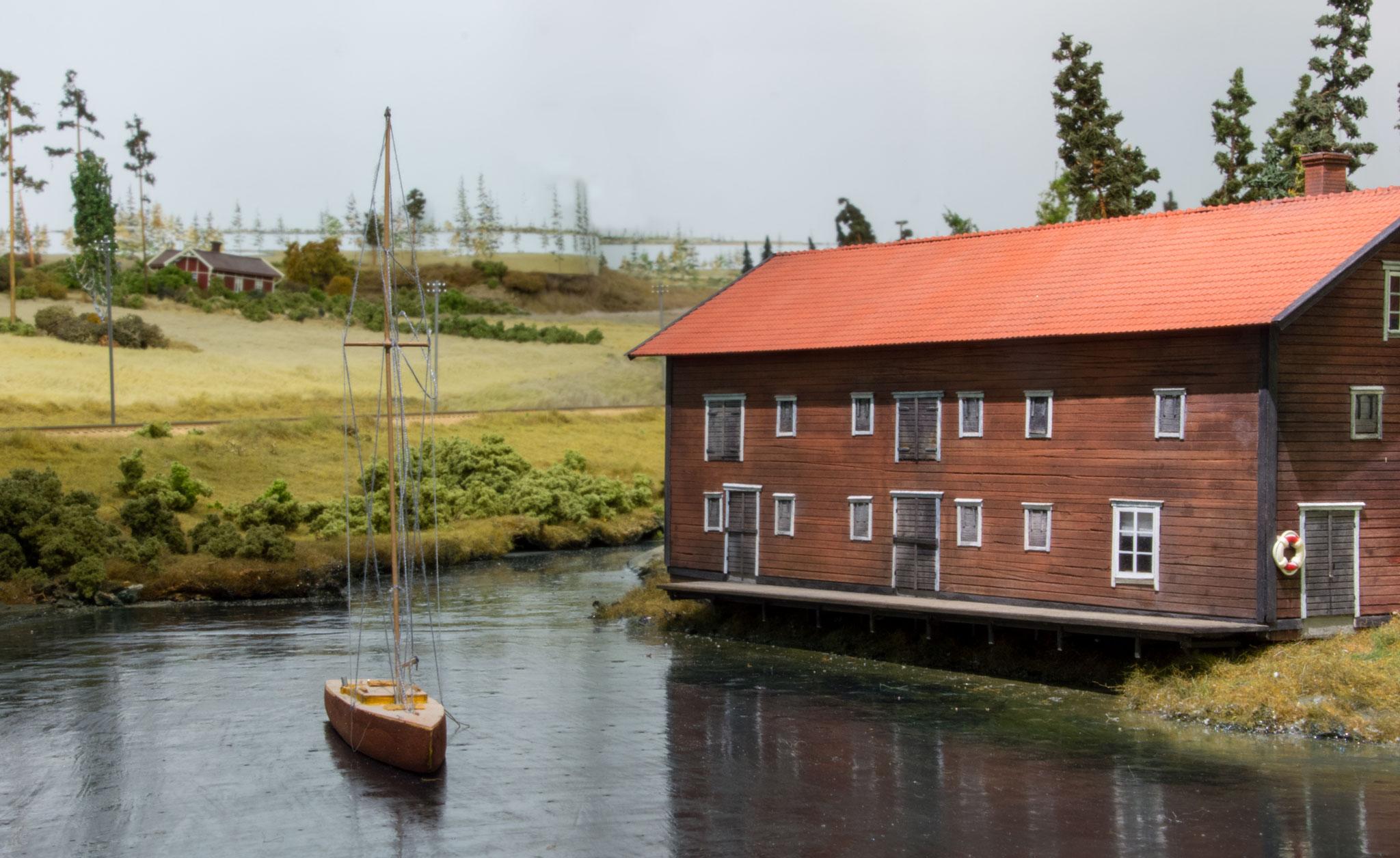 Båd på sø nær Forsvik