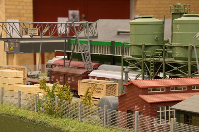 Godsterminal på et af træffets tyske moduler