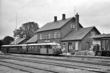 Sæby station fra perronsiden